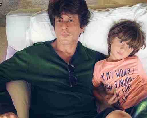 Shahrukh Khan with Abram.