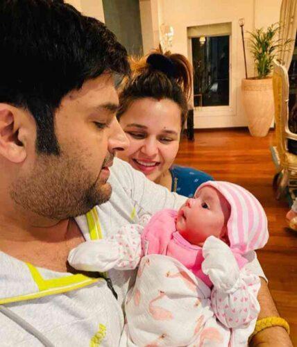 Kapil and Ginni Chatrath with Daughter Anayra Sharma.