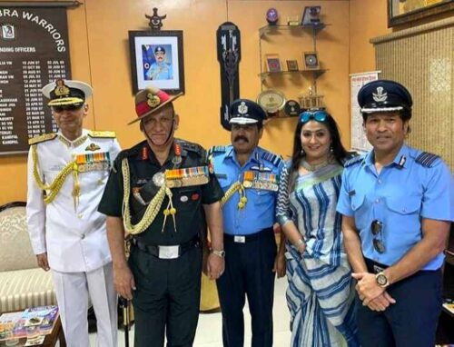 The Indian Air Force made him an Honorary Group Captain (2010)